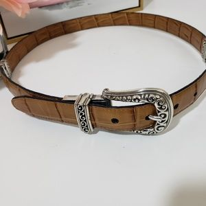 Brighton reversible leather belt SZ 34 L